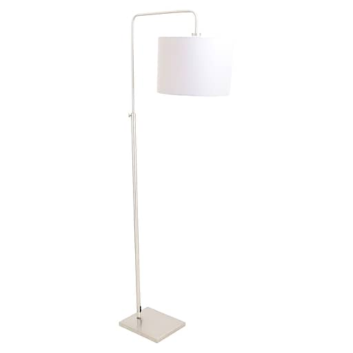 Lumisource Apollo Floor Lamp in Brushed Nickel with Grey Shade (LS-L-APLOFL GY)