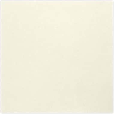 LUX 5 3/4 x 4 3/4 Square Flat Card 1000/Pack, Natural - 100% Recycled (534SQFLTNPC1000)