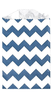 LUX Little Bitty Bag (2 3/4 x 4) 500/Pack, Navy Chevron (LBB-CHEVN-500)