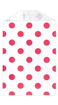 LUX Little Bitty Bag (2 3/4 x 4) 50/Pack, Red Polka Dot (LBB-PDR-50)