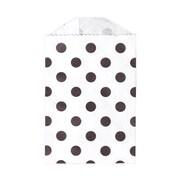 LUX Little Bitty Bag (2 3/4 x 4)  250/Pack, Black Polka Dot (LBB-PDB-250)