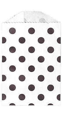 LUX Little Bitty Bag (2 3/4 x 4) 50/Pack, Black Polka Dot (LBB-PDB-50)