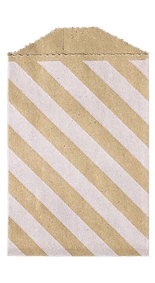 LUX Little Bitty Bag (2 3/4 x 4) 50/Pack, Diagonal Stripe Grocery Bag (LBB-DSGB-50)