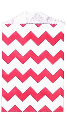 LUX Little Bitty Bag (2 3/4 x 4) 250/Pack, Red Chevron (LBB-CHEVR-250)