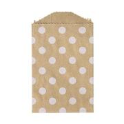 LUX Little Bitty Bag (2 3/4 x 4)  250/Pack, White Polka Dot (LBB-PDGB-250)