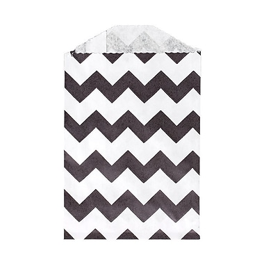 LUX Little Bitty Bag (2 3/4 x 4) 50/Pack, Black Chevron (LBB-CHEVB-50)