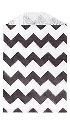 LUX Little Bitty Bag (2 3/4 x 4) 1000/Pack, Black Chevron (LBB-CHEVB-1000)