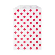 LUX Middy Bitty Bag (5 x 7 1/2)  250/Pack, Red Polka Dot (MBB-PDR-250)