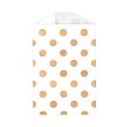 LUX Little Bitty Bag (2 3/4 x 4)  250/Pack, Gold Polka Dot (LBB-PDG-250)