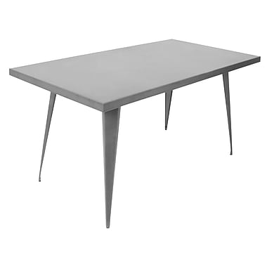 Lumisource Austin Dining Table in Matte Grey (DT-TW-AU6032 GY)