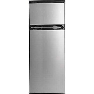 Danby Designer 7.3 Cu. Ft. Refrigerator with Top-Mount Freezer with Spotless Steel Doors