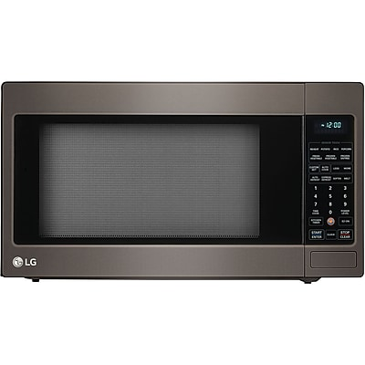 LG 2.0 Cu. Ft. 1200W Countertop Microwave Oven with TrueCook Plus and EasyClean Interior, Black Stainless Steel