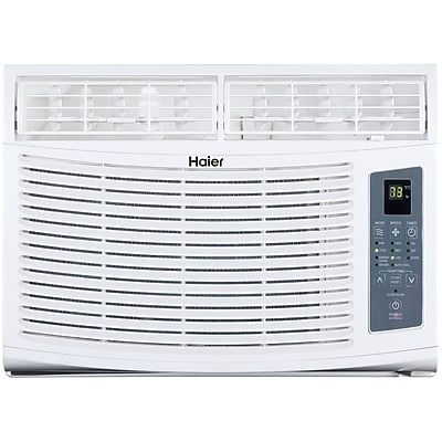 Haier 6,000 BTU Window-Mounted Air Conditioner and Magnetic Remote with Braille