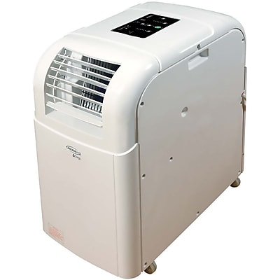 SoleusAir 12,000 BTU 115V Portable Air Conditioner with LCD Remote Control in White