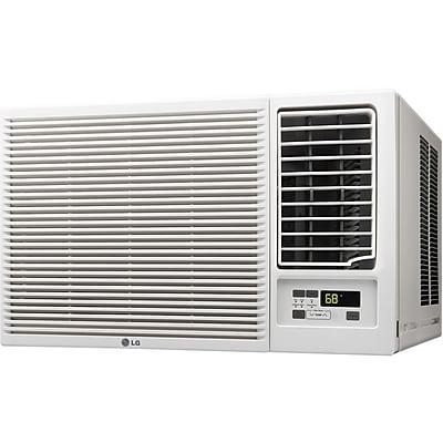 LG 18,000 BTU 230V Window-Mounted Air Conditioner with 12,000 BTU Supplemental Heat Function