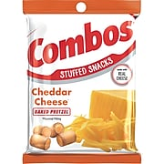 Combos Cheddar Cheese Pretzel Baked Snacks 6.3 oz Bag, Pack of 12 (MMM42005)