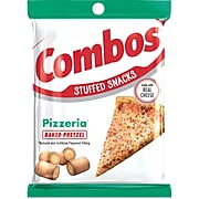 Combos Pizzeria Pretzel Baked Snacks 6.3 oz Bag, Pack of 12 (MMM42006)