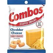 Combos Baked Cracker Snacks, Cheddar Cheese, 6.3 oz., 12/Carton (MMM42007)