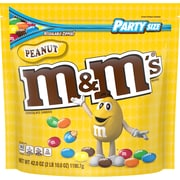 M&M'S Peanut Chocolate Candy, 42 oz Party Size Resealable Bag (MMM32437)