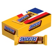 Snickers Peanut Butter Squared Chocolate Candy Bars, 1.78 oz, Pack of 18 (MMM39412)