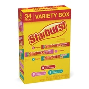 Starburst Fruit Chews Variety Pack, 2.07 oz (34 Single Packs) (209-00644)