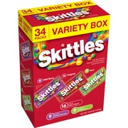 Skittles Fruity Candy Variety Box, 34 Count (2220-00104)