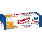 Combos Baked Snacks, Cheddar Cheese Cracker Singles, 1.7 oz, 18/Pack (209-00411)