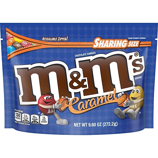 M&M'S Caramel Chocolate Candy Sharing Size Candy Bag, 9.6 oz (MMM50887)
