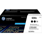 HP 508X Black High Yield Toner Cartridge, 2/Pack (CF360XD)