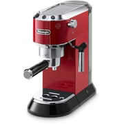 DeLonghi Dedica 15-Bar Pump Espresso Machine with Cappuccino System in Red