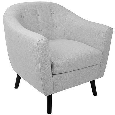 Lumisource Rockwell Mid Century Accent Chair in Light Grey Noise Fabric (CHR-AZ-RKWL LGY)
