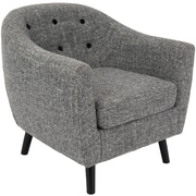 Lumisource Rockwell Mid Century Accent Chair in Dark Grey Noise Fabric (CHR-AZ-RKWL DGY)