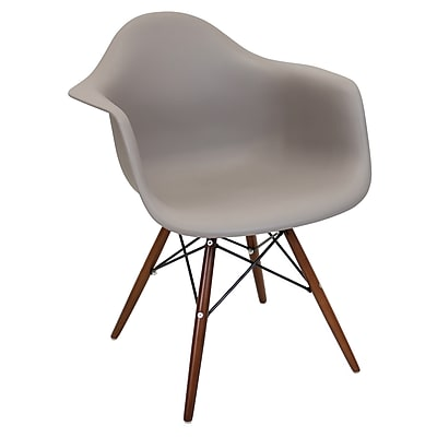 Lumisource Neo Flair Mid-Century Modern Chairs in Cappuccino Brown with Espresso Legs - Set of 2 (CH-NFLPP BN+E2)