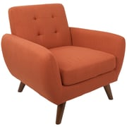 Lumisource Hemingway Mid-Century Modern Accent Chair in Orange Fabric (CH-HEMWY OR)
