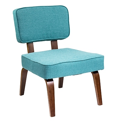 Lumisource Nuncio Mid-Century Accent Chair in Teal Woven Fabric (CH-NNZ TL)
