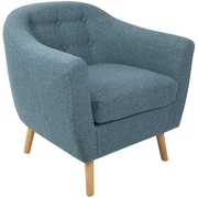 Lumisource Rockwell Mid Century Accent Chair in Blue Noise Fabric (CHR-AZ-RKWL BU)