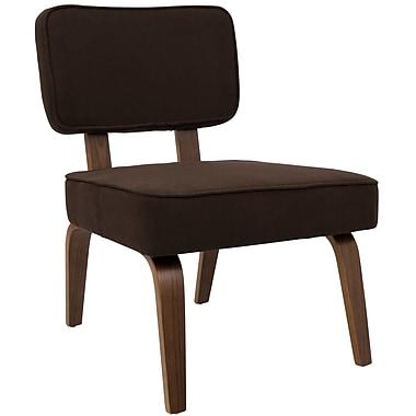 Lumisource Nuncio Mid-Century Accent Chair in Espresso Woven Fabric (CH-NNZ ESP)
