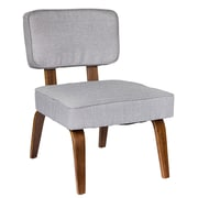 Lumisource Nuncio Mid-Century Accent Chair in Grey Woven Fabric (CH-NNZ GY)