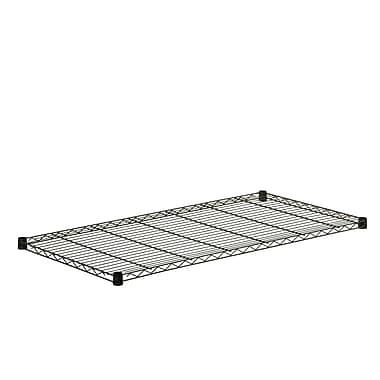 Honey Can Do Steel Shelf-350lb black 24x48, black ( SHF350B2448 )