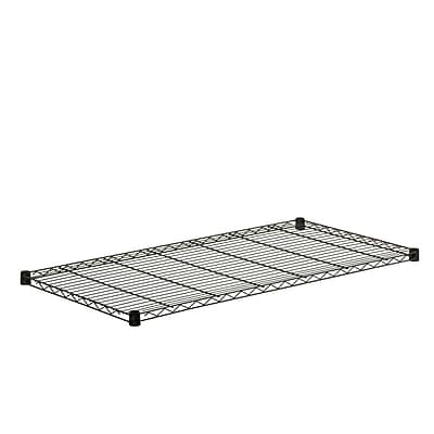 Honey Can Do Steel Shelf-350lb black 24x48, black ( SHF350B2448 )