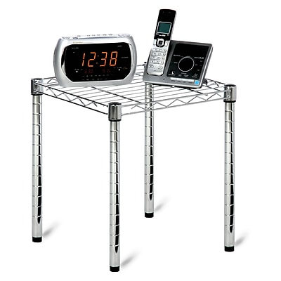Honey Can Do wire shelving table, chrome plated ( SHF-01504 )