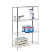 Honey Can Do Chrome Plated 4-tier shelving- 14x36x54 inch; 250lb capacity, chrome plates ( SHF-01906 )