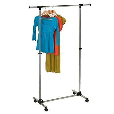 Honey Can Do Modern Adjustable All-Chrome Garment Rack, Chrome/Black ( GAR-03538 )