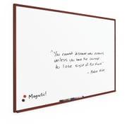 Best-Rite Porcelain Steel Wood Mahogany Trim 4' x 8' Porcelain Steel Magnetic Porcelain Steel (M202WH-25)