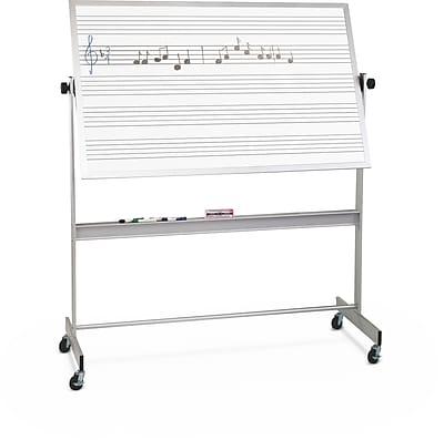 Best-Rite Music Line Deluxe Reversible 4' x 6' Mobile Whiteboard (668AG-DM)