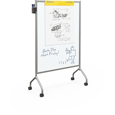 Best-Rite Magnetic Platinum Mobile Whiteboard, 71.75