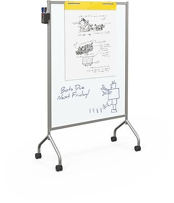 Best-Rite Magnetic Platinum Mobile Whiteboard, 71.75