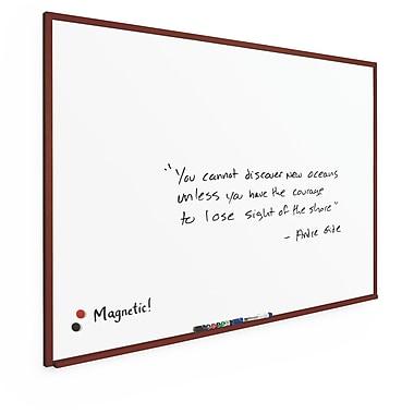Best-Rite Porcelain Steel Wood Mahogany Trim 4' x 6' Porcelain Steel Magnetic Porcelain Steel (M202WG-25)