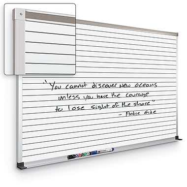 Best-Rite Horizontal Line Board 4' x 8' Mobile Dry Erase Whiteboard (202AH-S3)