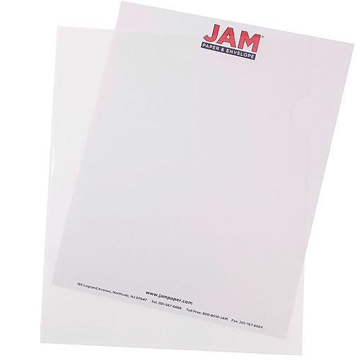 """JAM Paper® Plastic Sleeves, 9"""" x 12"""", Clear, 12/Pack (2226316988)"""